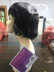 Lovely Short Fringe Wig Human Hair Wigs   Hair Beauty for sale in Lagos State, Ikeja