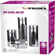 Prima 4pc Glass Jar Set | Kitchen & Dining for sale in Lagos State