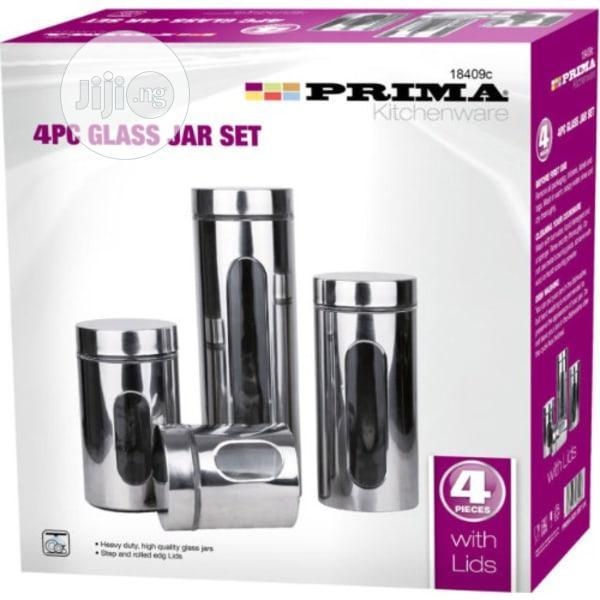 Prima 4pc Glass Jar Set