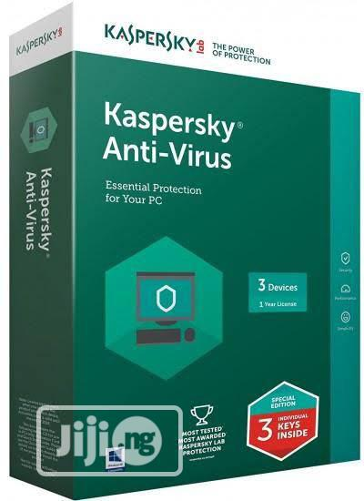 Kaspersky ANTIVIRUS 3user   Software for sale in Ikeja, Lagos State, Nigeria