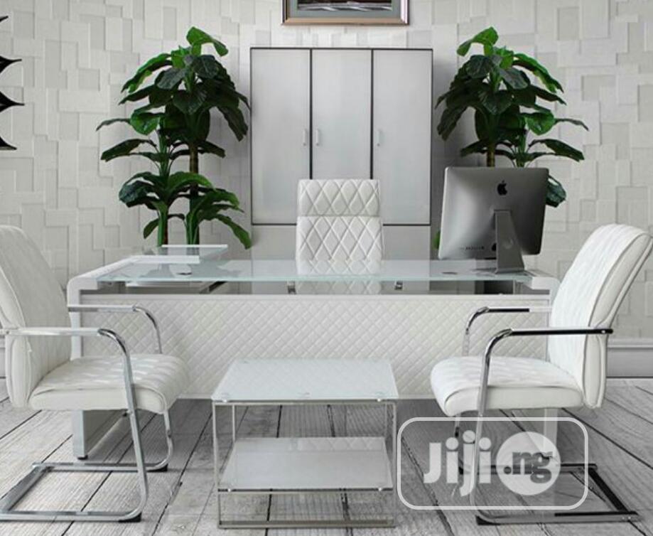 1.8m Executive Glass Table