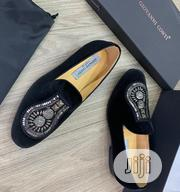 """Giovanni Conti Suede Loafers """"With Silver Stones"""" 