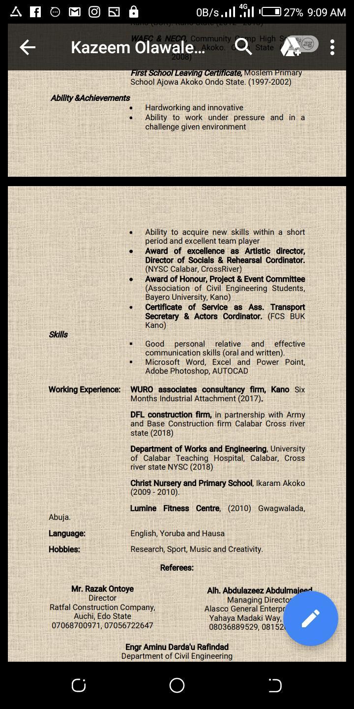 Sponsorship   Mining Industry CVs for sale in Asokoro, Abuja (FCT) State, Nigeria