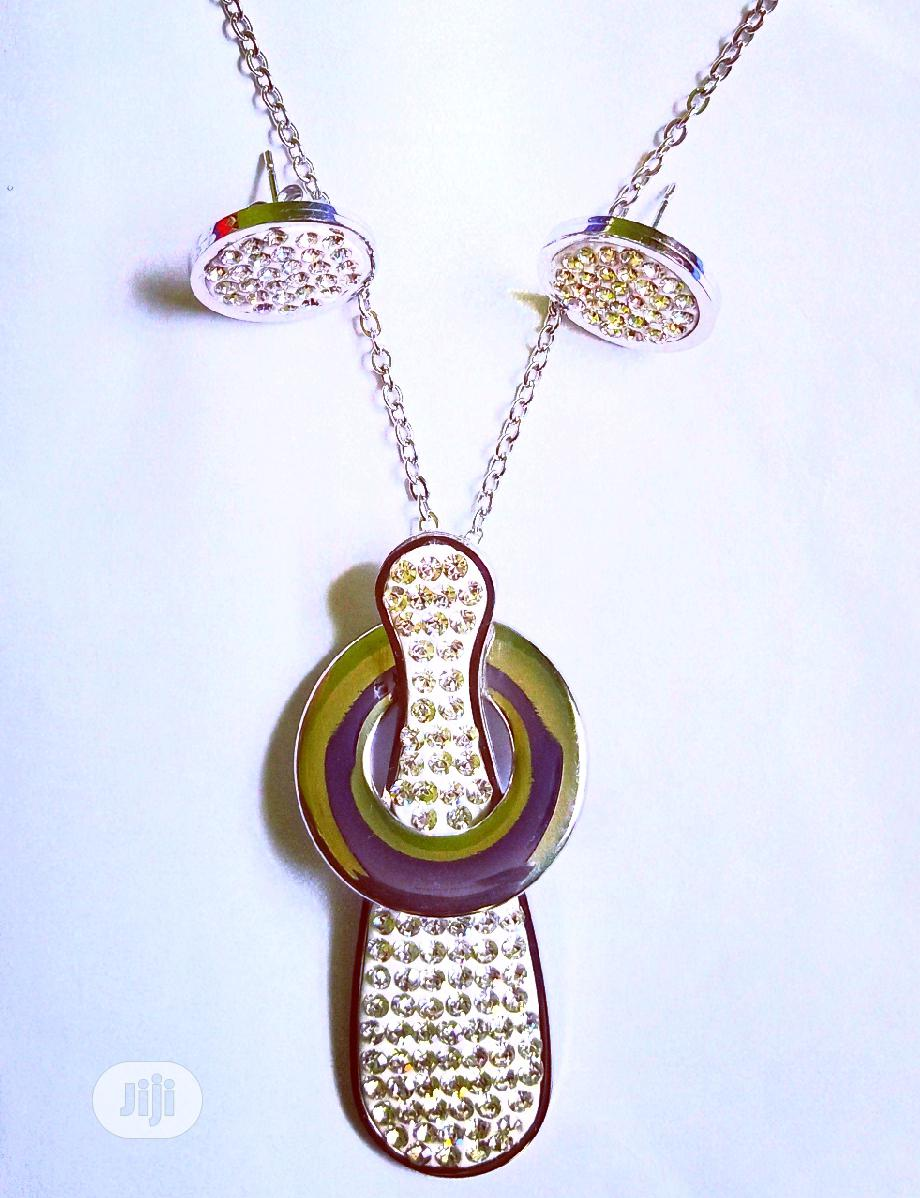 Original Stainless Steel Earring and Pendant With Necklace