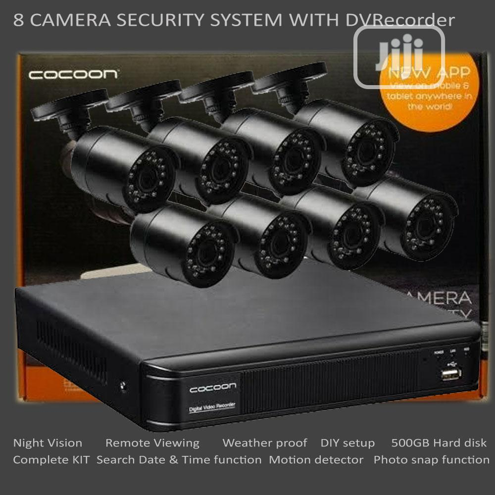 8 Camera CCTV Security System With DVR