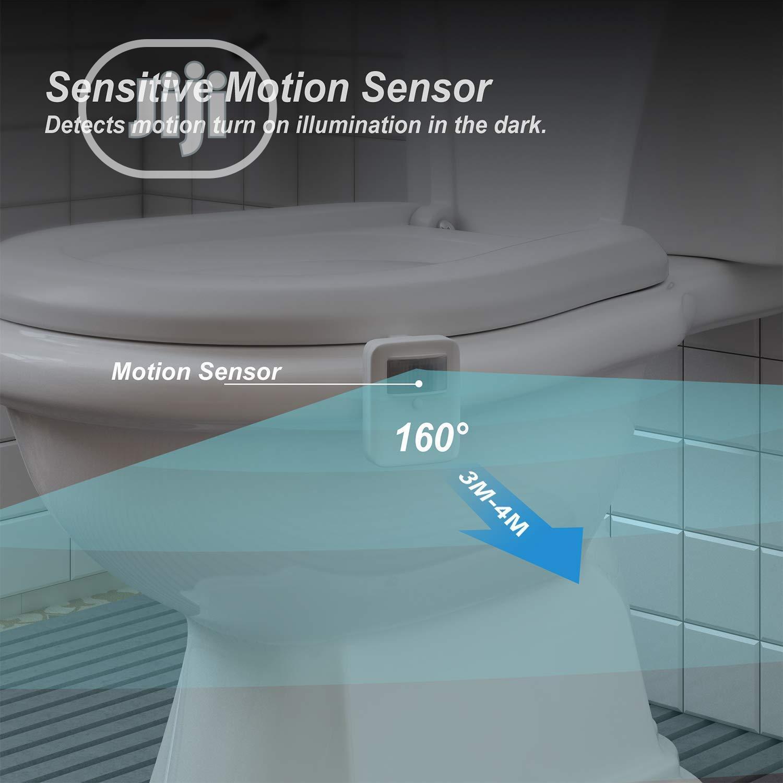 Archive: USA Rechargeable Toilet Bowl Night Light,16 Colors Motion Sensor