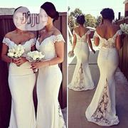 Evening Gown White Slim Long Formal Dress | Clothing for sale in Lagos State, Victoria Island