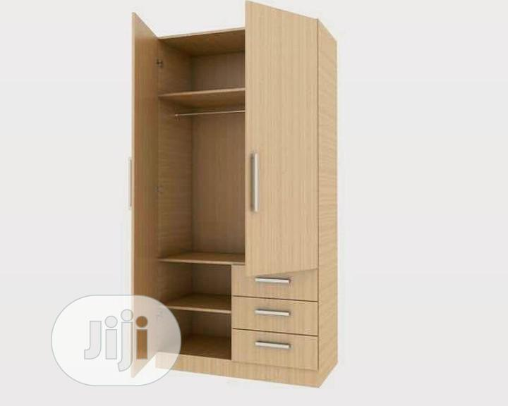 A Brand New Akala Two Doors With Thee Drawers Standard Wardrobe.