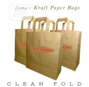Brown Kraft Paper Bags With Flat Handle/Food Packaging/Food Paper Bag | Manufacturing Services for sale in Lagos State, Ikeja