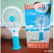 """Lontor 4"""" Rechargeable Mini Standing/Hand Fan With Lithum Battery 