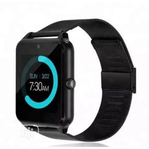 Z60 Bluetooth Smartwatch Camera Stainless Steel Metal Strap | Smart Watches & Trackers for sale in Lagos State, Ikeja