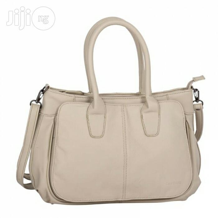 UK Made Luca Bocelli Leather Handbag (Prairie Sand Colour)