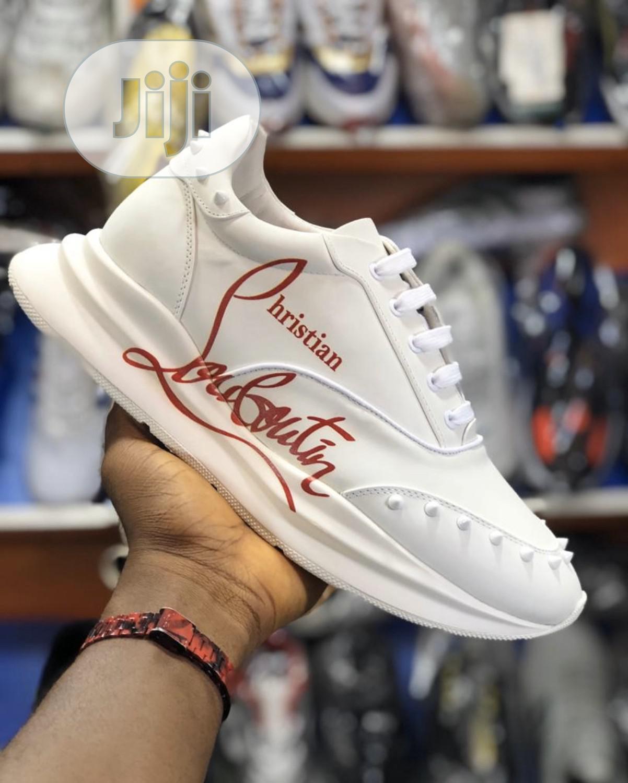 Christian Louboutin White Spikes