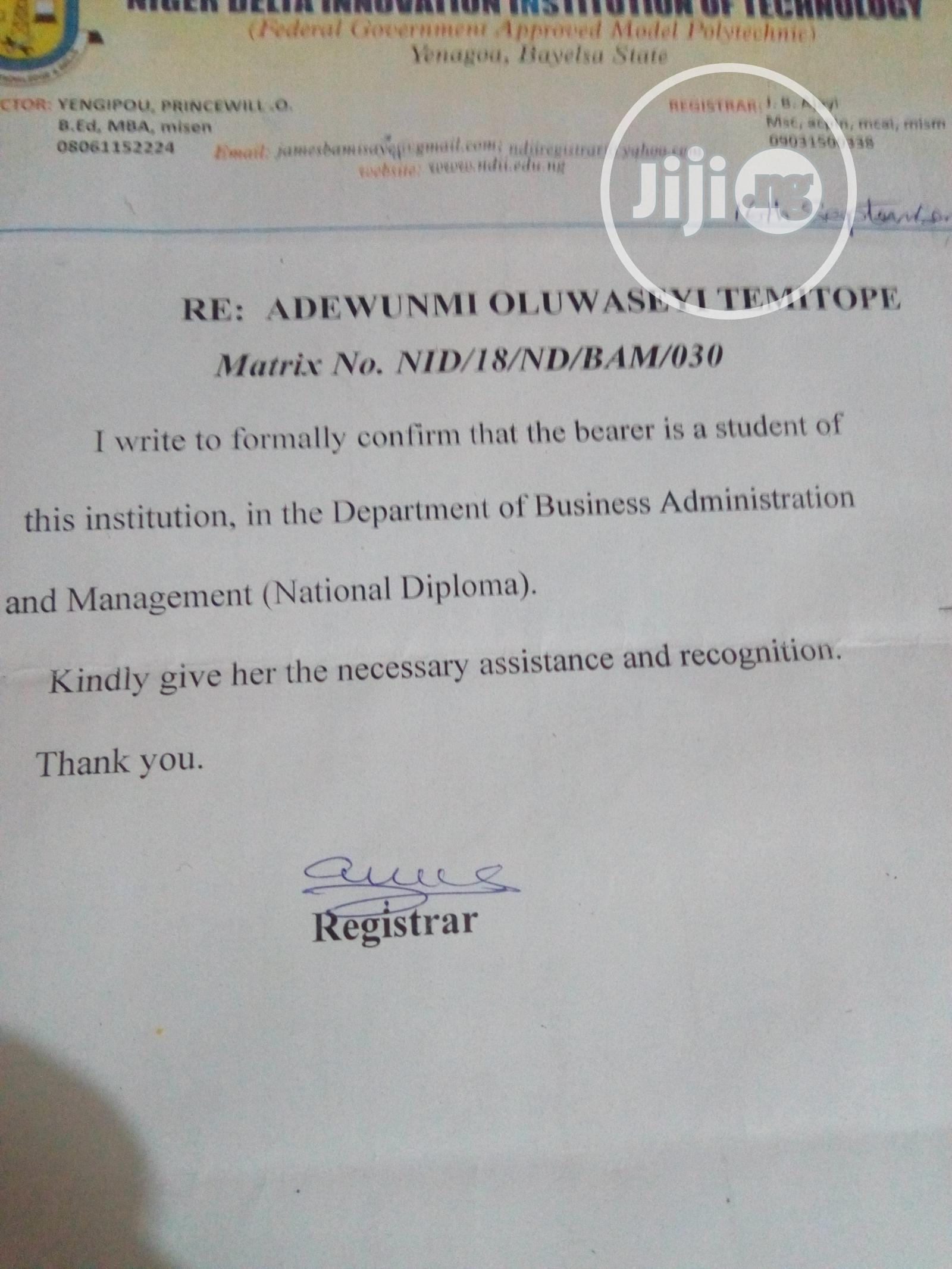 Personal Assistant | Office CVs for sale in Moba, Ekiti State, Nigeria
