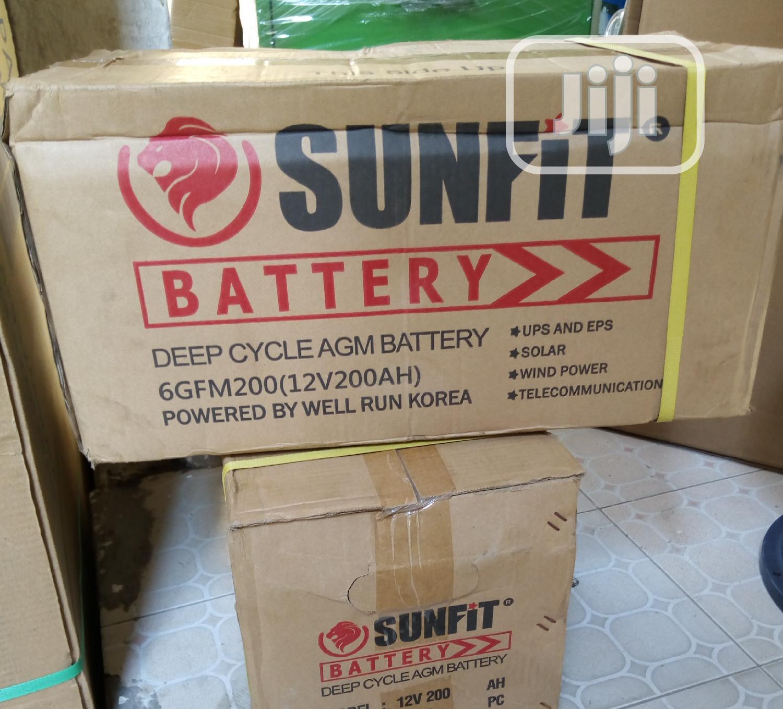 Quality Sunfit Solar Battery 200ah 12v