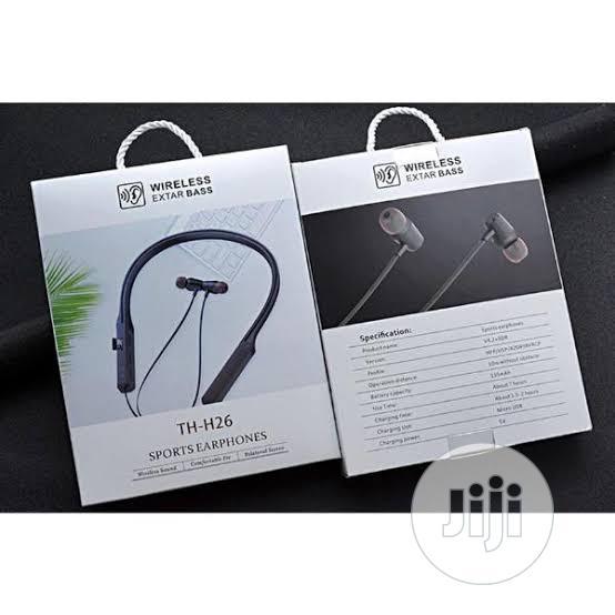 Wireless Extar Bass Th-H26 Sport Earphones With TF Card Port