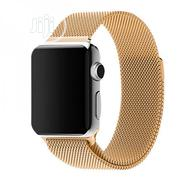 42mm Milanese Loop Band Stainless Strap For Iwatch - Gold | Accessories for Mobile Phones & Tablets for sale in Lagos State, Shomolu