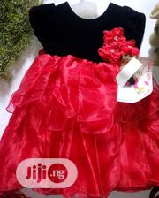 Nannette Girls Black Suede Top Red Ball Gown | Children's Clothing for sale in Lagos State, Ikotun/Igando