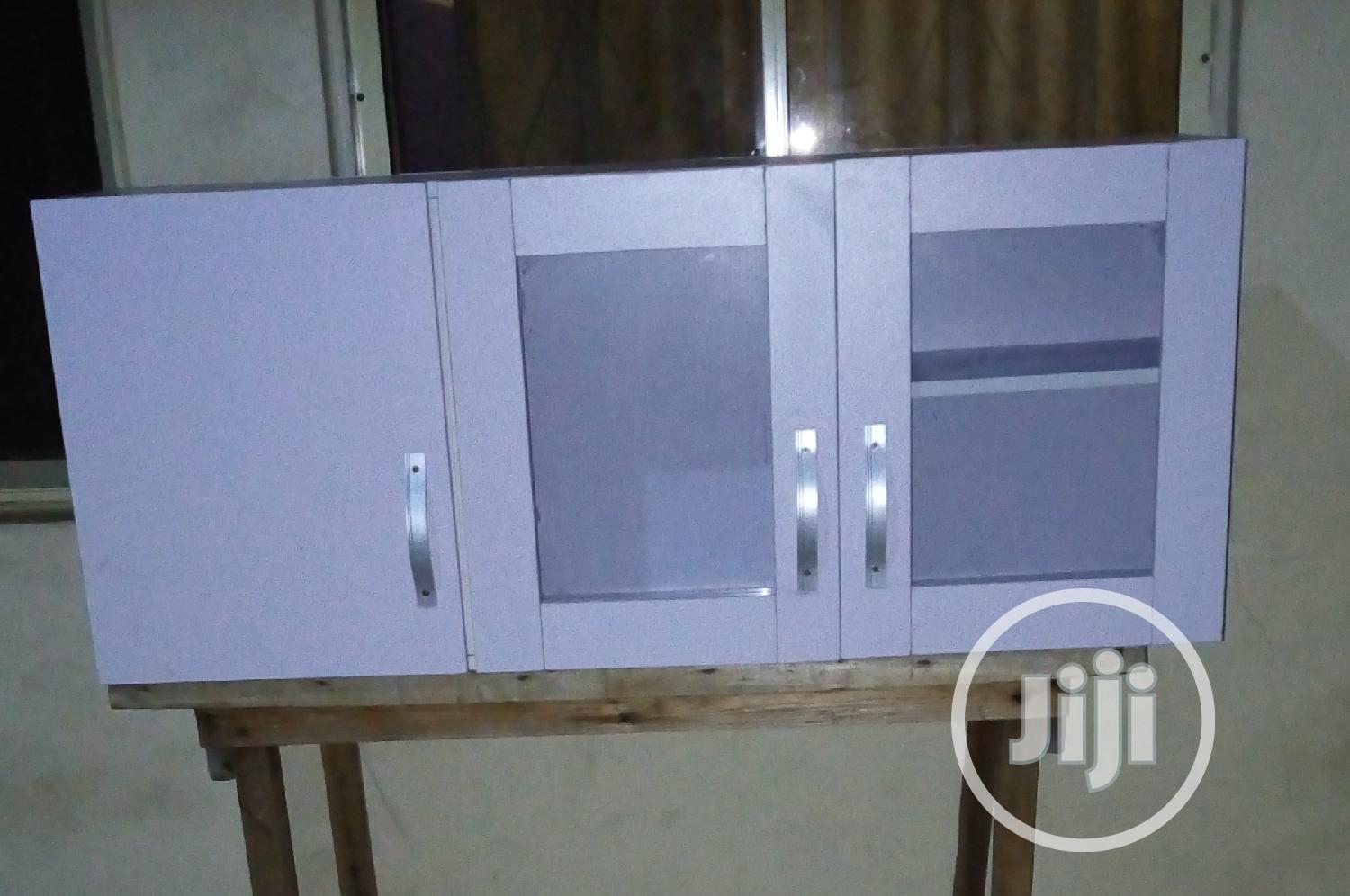 A Brand New White Kitchen Dinning Cabinet With Glass Doors In Lagos State Furniture D 39 Favour Furniture Company Jiji Ng