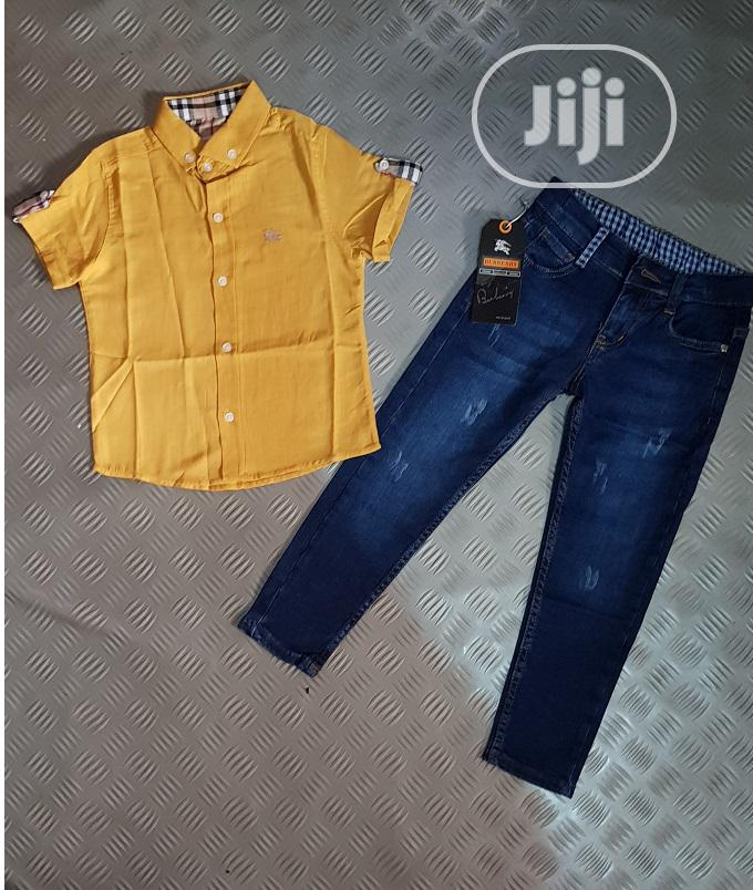Turkey Boys Burberry Top and Jeans - 1-10yrs - Yellow