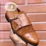 Handmade Double Monk Strap Suede And Leather Shoe | Shoes for sale in Lagos State, Amuwo-Odofin