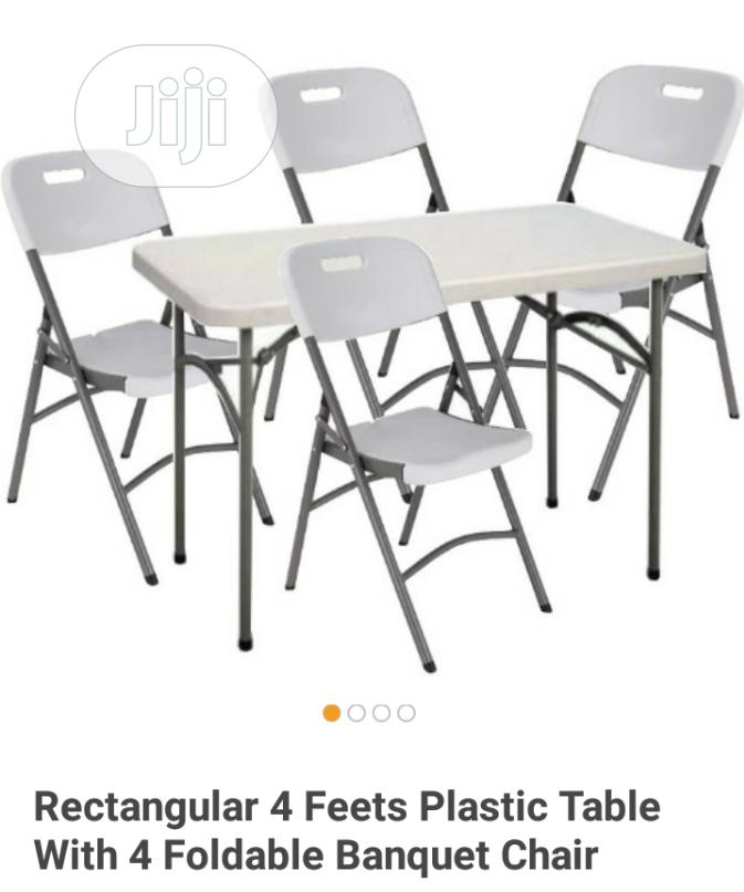 Archive Brand New Imported Set Of Plastic Folding Table With Folding Chairs In Lagos State Furniture Chisco Global Invest Ltd Jiji Ng