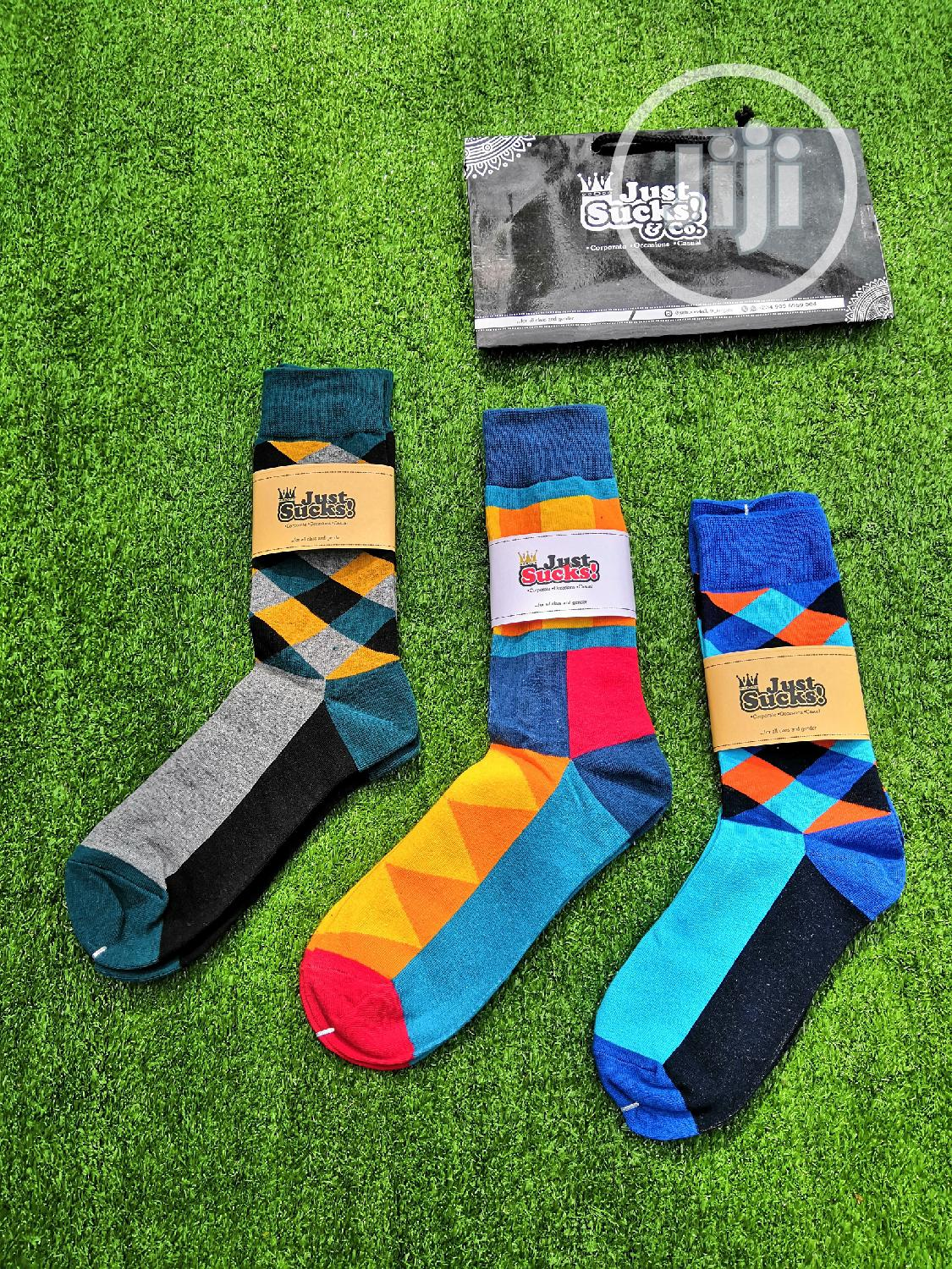 Men Office And Casual Quality Patterned Socks | Clothing Accessories for sale in Shomolu, Lagos State, Nigeria
