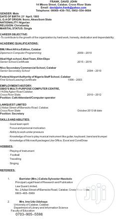Office CV | Office CVs for sale in Cross River State, Calabar