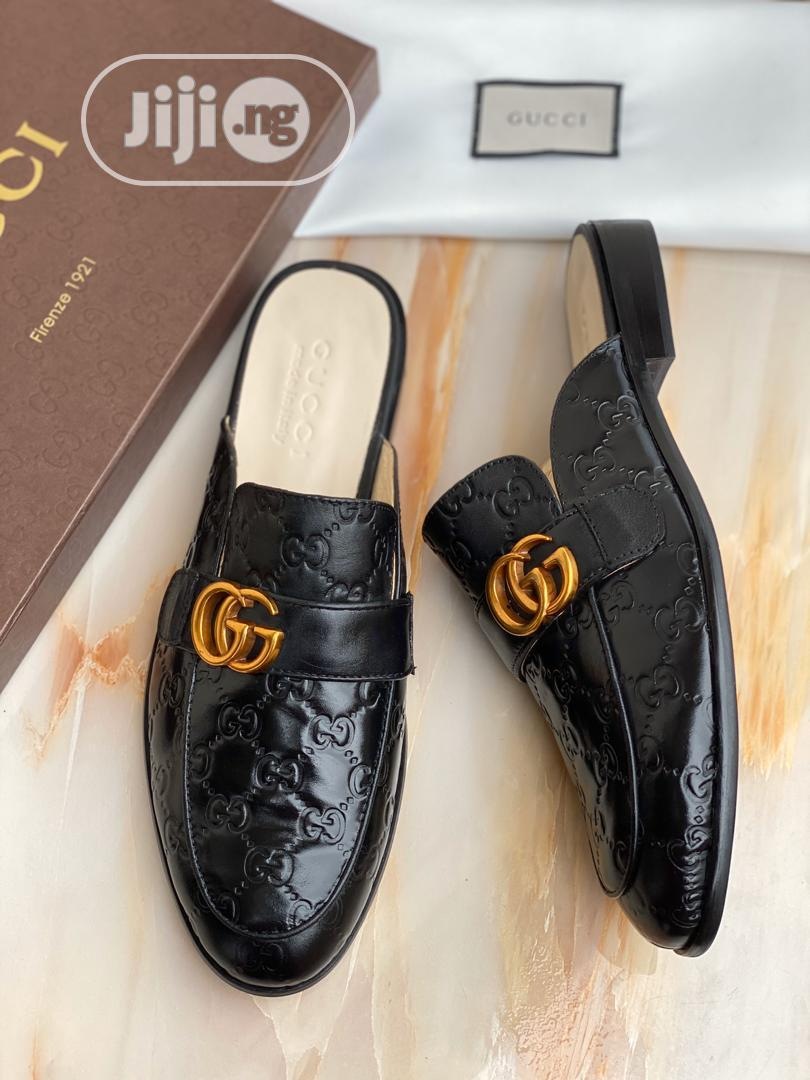 GUCCI Princetown Men's Leather Slippers