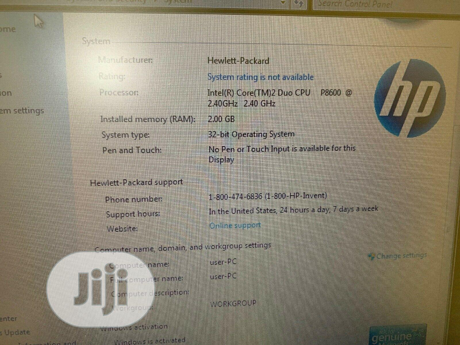Laptop HP EliteBook 6930P 2GB Intel Core 2 Duo HDD 160GB | Laptops & Computers for sale in Ovia South, Edo State, Nigeria
