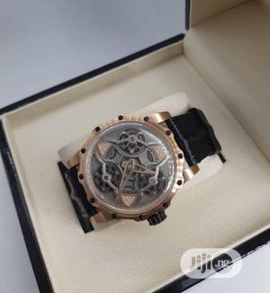 Antoine Prezuiso Automatic Rose Gold Leather Strap Watch | Watches for sale in Lagos State, Lagos Island (Eko)