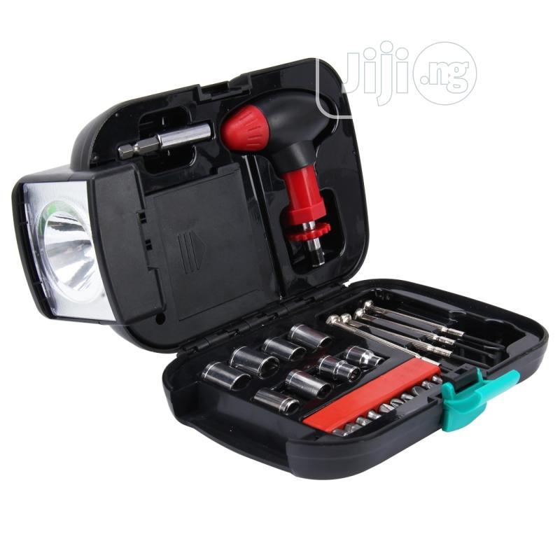 24 Pcs Portable Flashlight Tool Box Set | Hand Tools for sale in Ikeja, Lagos State, Nigeria