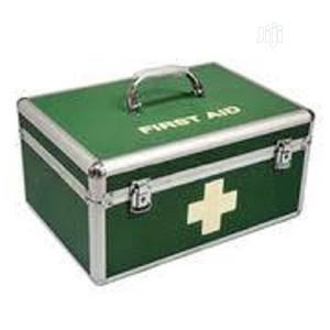 Green Aluminium First Aid Box With Content (Small Size)   Medical Supplies & Equipment for sale in Lagos State, Ikeja