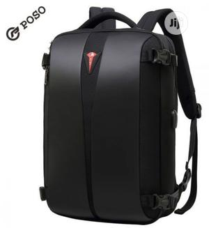 """Poso 15.6"""" Water Resistant Laptop Backpack With Lock -O11   Bags for sale in Lagos State, Alimosho"""