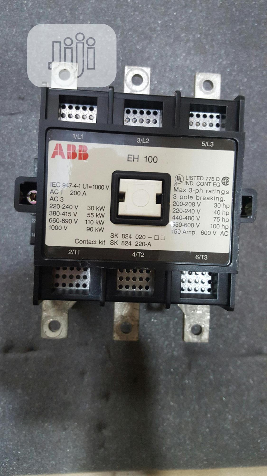 Eh 100 Abb Contactor 200amps 3poles.