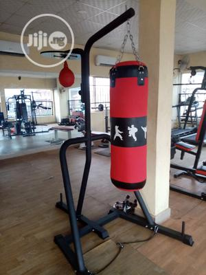 Boxing Stand With 50kg Punching Bag   Sports Equipment for sale in Lagos State, Ikoyi