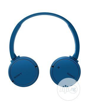 Sony Mdr-Zx220bt Wireless Bluetooth Nfc Headphones - Blue   Headphones for sale in Lagos State, Ikeja