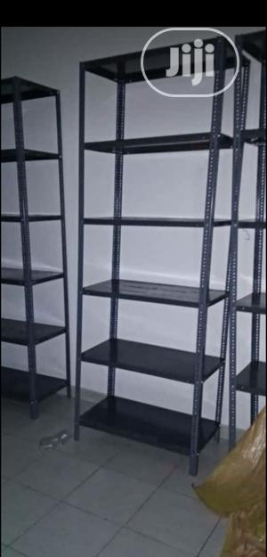 8feets Height Grey Colour Angle Slotted Racks For Storage & Display | Store Equipment for sale in Lagos State