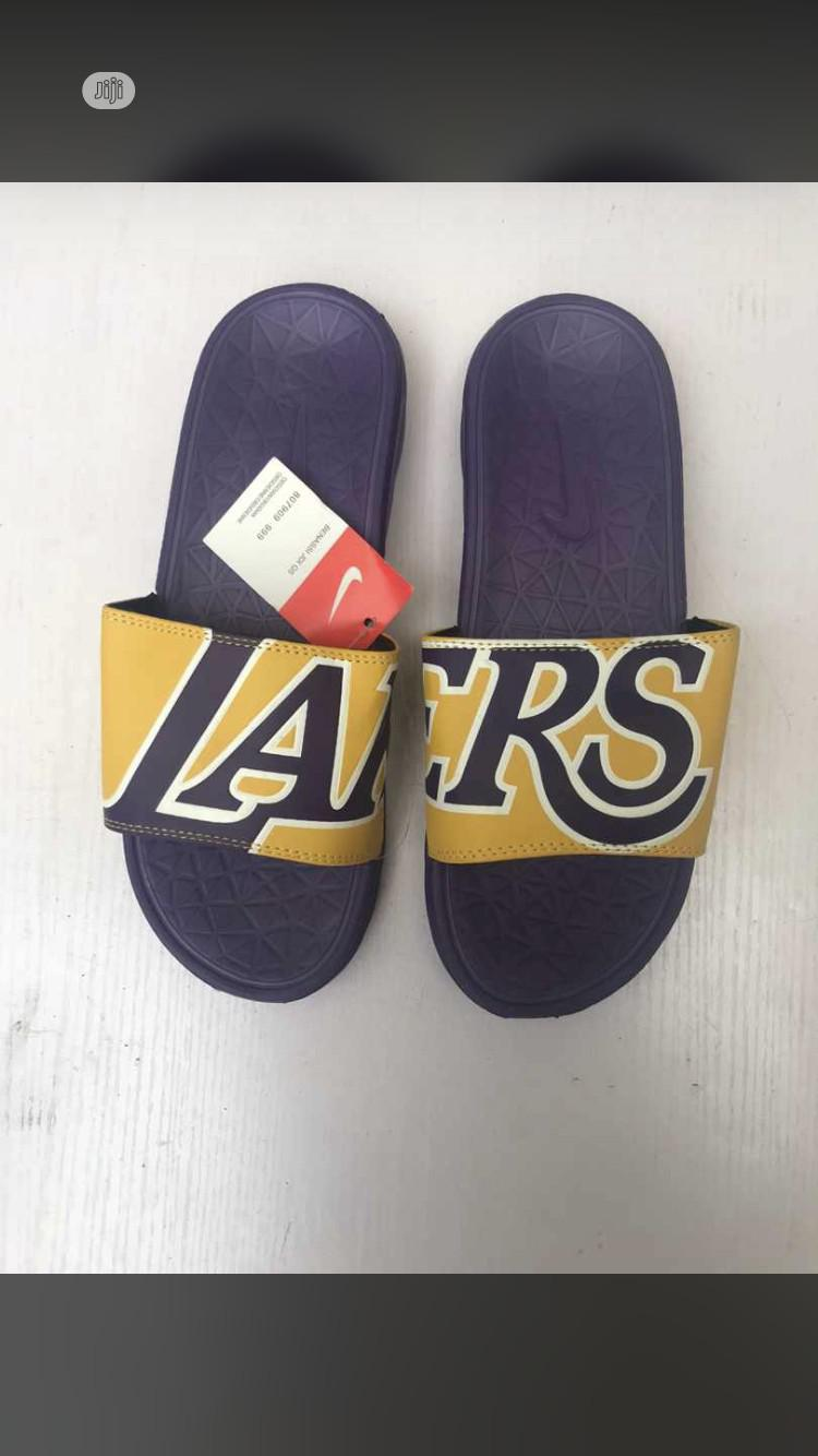 Nike Lakers Slippers Available in