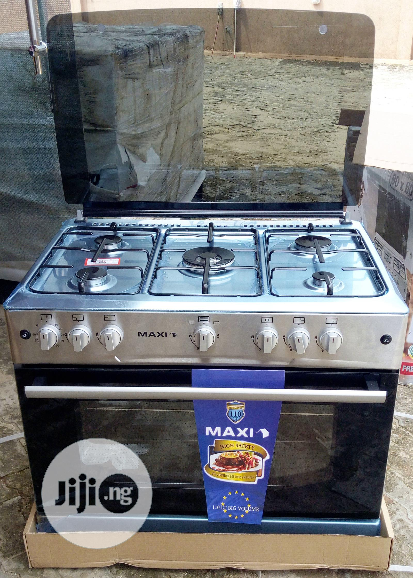 Maxi Gas Cooker 5 Burner All Gas - F9E50G2 | Kitchen Appliances for sale in Benin City, Edo State, Nigeria