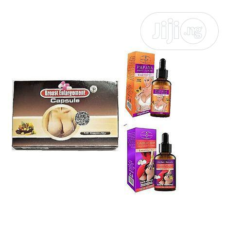 Danmali Breast Enlarging Capsule+Papaya Enlarging Oil+Garlic Hip Oil