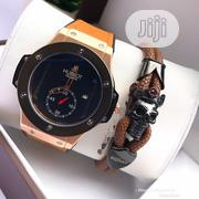 Classic Hublot Wristwatch With Genuine Leather and Free Bracelet | Jewelry for sale in Lagos State, Lagos Island