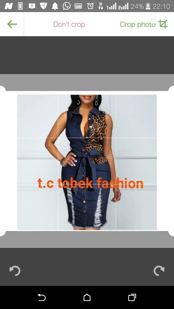 Female Jeans Skirt $ Blouse | Clothing for sale in Ikeja, Lagos State, Nigeria