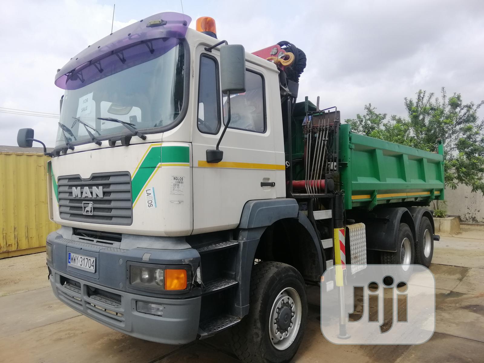 European Used Man Dsl 6 X 6 Dump 6tons Selfloader Knuckle Crane Truck