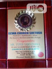 Wooden Award Plaque With Printing   Arts & Crafts for sale in Lagos State, Agboyi/Ketu