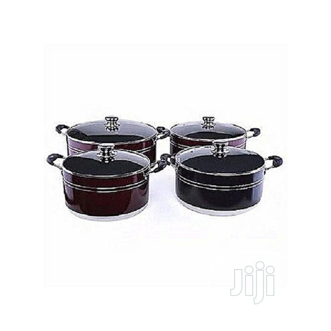 Non Stick Aluminum Cookware Set Of 4 Pots