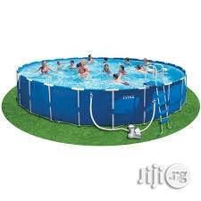New 15ft Metal Frame Swimming Pool With Ladder | Sports Equipment for sale in Rivers State, Port-Harcourt