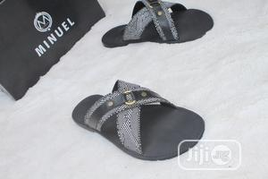 First Class Cross Palm Slippers, White and Black   Shoes for sale in Lagos State, Mushin