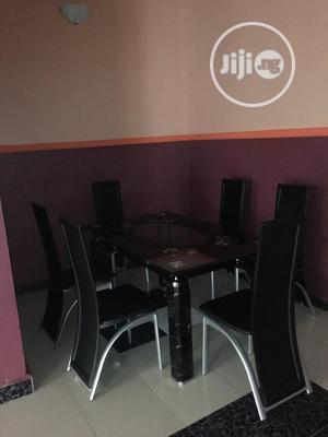 Quality Strong Six Seater Tinted Glass Dining Table | Furniture for sale in Lagos State, Ifako-Ijaiye