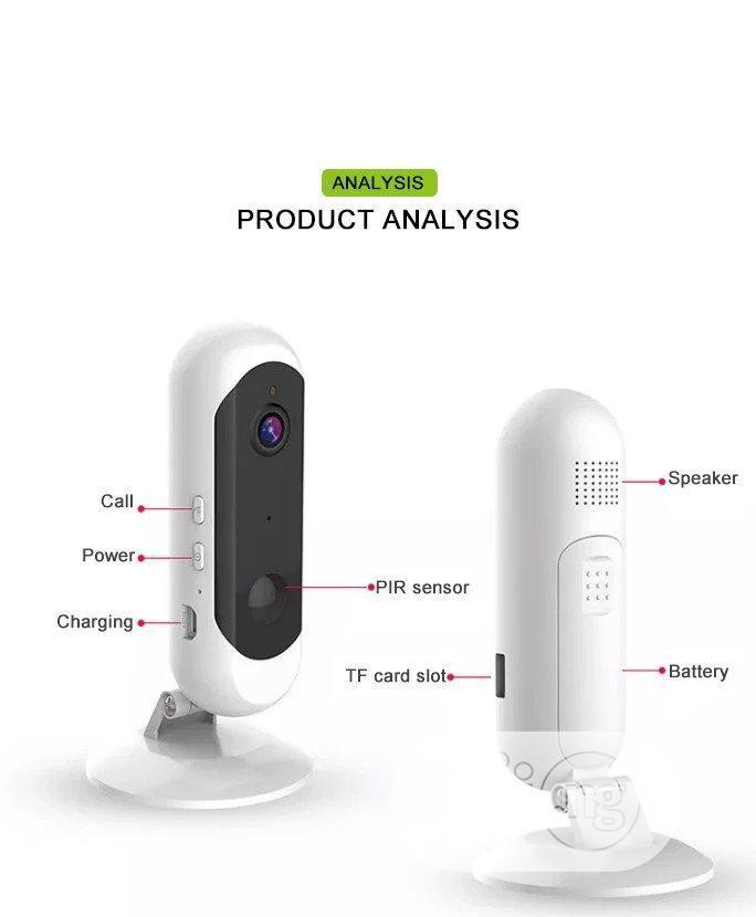 Battery Powered Wireless Wi-fi Camera
